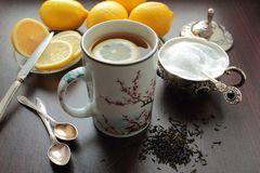 Mug with tea Royalty Free Stock Photo