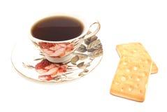 Mug of tea and two cookies Royalty Free Stock Photos