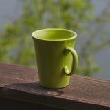 Mug on terrace Royalty Free Stock Photo