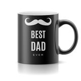 Mug with text. Black mug with text a  best dad Royalty Free Stock Photo