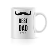 Mug with text. White mug with text a  best dad Royalty Free Stock Photos