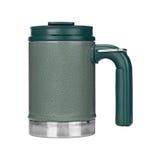 Mug of thermos, green mug Stock Image
