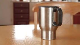 Mug thermos stock video