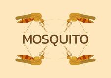 Mug Uitstekend Logo Vector Illustration, Oorsprongsziekten Stock Fotografie