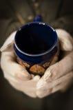 Mug With White Glove Royalty Free Stock Image