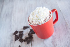 Mug of Winter Hot Chocolate Drink Royalty Free Stock Photos
