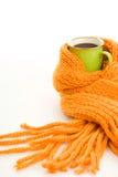 Mug wrapped scarf Stock Images