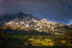 Mugarra góra w Urkiola obrazy royalty free