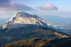 Mugarra mountain in basque country Royalty Free Stock Image