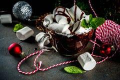 Mugcake-Schokoladenschokoladenkuchen stockfotos