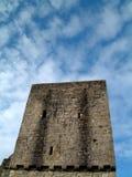Mugdock Castle Keep. Ruined tower at Mugdock Casltle near Glasgow, Scotland royalty free stock photography