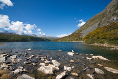 Mugecuo lake Royalty Free Stock Photography