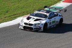 Mugello电路,意大利- 2017年10月7日, :BMW M6 BMW意大利队GT3,驾驶被A Cerqui和S Comandini 库存图片