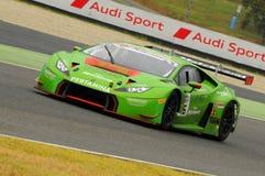 Mugello电路,意大利- 2016年7月17日:Lamborghini Huracan GT3 -赛跑Imperiale超级的GT3驾驶由米尔科Bortolotti和J M 库存照片