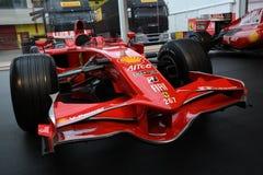MUGELLO, IT, 2017年10月:现代时代在Mugello电路的法拉利F1在Finali Mondiali法拉利期间的意大利2017年 库存照片