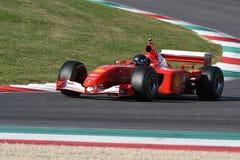 MUGELLO, IT, 2017年10月:现代时代在Mugello电路的法拉利F1在Finali Mondiali法拉利期间的意大利2017年 免版税库存图片