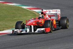 MUGELLO, IT, 2017年10月:现代时代在Mugello电路的法拉利F1在Finali Mondiali法拉利期间的意大利2017年 免版税库存照片