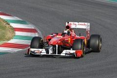 MUGELLO, IT, 2017年10月:现代时代在Mugello电路的法拉利F1在Finali Mondiali法拉利期间的意大利2017年 库存图片
