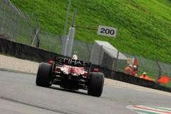 MUGELLO, IT, 2013年11月:未知数遇到与法拉利F1在Finali Mondiali法拉利期间2013年mugello电路在意大利 库存图片