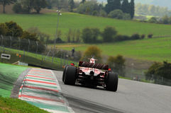 MUGELLO, IT, 2013年11月:未知数遇到与法拉利F1在Finali Mondiali法拉利期间2013年mugello电路在意大利 免版税图库摄影
