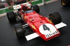 MUGELLO, ΤΠ, τον Οκτώβριο του 2017: Εκλεκτής ποιότητας Ferrari F1 312 Β το 1970 του αργίλου Regazzoni και Jacky Ickx στη μάντρα π Στοκ Φωτογραφίες