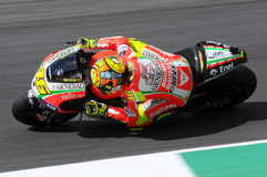 MUGELLO - ИТАЛИЯ, 13-ОЕ ИЮЛЯ: Всадник Valentino Rossi Ducati итальянки во время GP 2012 ТИМ MotoGP Италии 13-ого июля 2012 Стоковые Фото