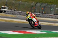 MUGELLO - ИТАЛИЯ, 13-ОЕ ИЮЛЯ: Всадник Valentino Rossi Ducati итальянки во время GP 2012 ТИМ MotoGP Италии 13-ого июля 2012 Стоковые Фотографии RF