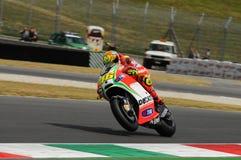 MUGELLO - ИТАЛИЯ, 13-ОЕ ИЮЛЯ: Всадник Valentino Rossi Ducati итальянки во время GP 2012 ТИМ MotoGP Италии 13-ого июля 2012 Стоковые Изображения RF