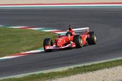 MUGELLO, ИТ, октябрь 2017: Современная эра Феррари F1 на цепи Mugello в Италии во время Finali Mondiali Феррари 2017 Стоковые Изображения RF