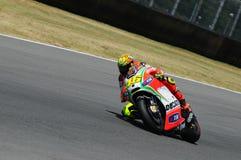 MUGELLO -意大利, 7月13日:意大利人在2012年意大利的蒂姆MotoGP GP期间的杜卡迪车手瓦伦蒂诺・罗西2012年7月13日的 免版税库存图片