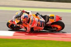 MUGELLO -意大利, 5月21日:西班牙人本田车手在2016年意大利的蒂姆的Dani Pedrosa MotoGP Mugello电路的 免版税库存图片