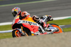 MUGELLO -意大利, 5月21日:西班牙人本田车手在2016年意大利的蒂姆的Dani Pedrosa MotoGP Mugello电路的 图库摄影