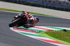 MUGELLO -意大利, 5月29日:西班牙人本田车手在2015年意大利的蒂姆的Dani Pedrosa MotoGP Mugello电路的 库存图片