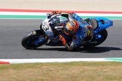 Mugello -意大利, 6月2日:西班牙人本田Marc VDS车手在2017年意大利MotoGP的奥克利GP期间的铁托拉巴特Mugello电路的 免版税库存照片