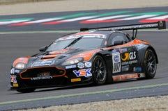 Mugello Circuit, Italy - July 17, 2016:ASTON MARTIN VANTAGE GT3 - SUPER GT3  driven by F. Sini and M. Mugelli, Campionato Italiano Royalty Free Stock Images