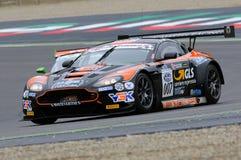 Mugello Circuit, Italy - July 17, 2016:ASTON MARTIN VANTAGE GT3 - SUPER GT3  driven by F. Sini and M. Mugelli, Campionato Italiano Stock Images