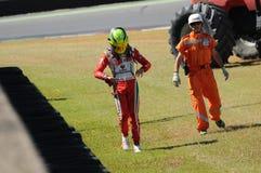 Mugello Circuit, Italy 19 July 2016: Schumacher of Prema Powerteam e Juan Manuel Correa have an incident. During Formula 4 Race at Mugello Circuit. Italy stock photos
