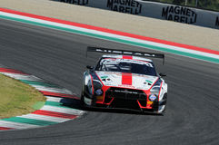 Mugello Circuit, Italy July 17, 2016 Nissan GTR NISMO GT3 of Drive Technology Team, driven by Linossi - Bontempelli royalty free stock photography