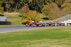 MUGELLO CIRCUIT, ITALY - OCT: Sebastian Vettel, Kimi Raikkonen, Marc Genè and Esteban Gutierrez of Scuderia Ferrari F1 Royalty Free Stock Image