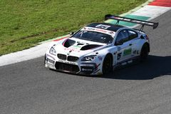 Mugello Circuit, Italy - 7 October, 2017: BMW M6 GT3 of BMW Italia Team, driven by A. Cerqui and S. Comandini stock image
