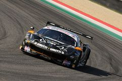 Mugello Circuit, Italy - 6 October, 2017: A Ferrari 488 GT3 of Team Black Bull Swiss Racing, driven by S. GAI and M. RUGOLO Stock Image