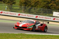 Mugello Circuit, Italy - 6 October, 2017: A Ferrari 488 of Scuderia AF CORSE driven by Ishikawa Motoaki. The final round of C.I. Gran Turismo Super GT3-GT3 in Stock Photos