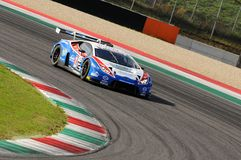 Mugello Circuit, Italy - 6 October, 2017: Lamborghini Huracan of OMBRA Srl Team driven by BERETTA Michele - FRASSINETI Alex. During the final round of C.I. Gran Stock Photography