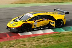 Mugello Circuit, Italy - 6 October, 2017: Lamborghini Huracan of Petri Corse Motorsport Team driven by Baruch Bar - Mapelli Marco Royalty Free Stock Photos