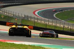 Mugello Circuit, Italy - 6 October, 2017: Lamborghini Huracan of Petri Corse Motorsport Team driven by Baruch Bar - Mapelli Marco Royalty Free Stock Image