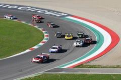 Mugello Circuit, Italy - 7 October, 2017: Start Race #1 Final Round of C.I. Gran Turismo Super GT3-GT3 Royalty Free Stock Photos