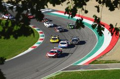 Mugello Circuit, Italy - 7 October, 2017: Start Race #1 Final Round of C.I. Gran Turismo Super GT3-GT3 Royalty Free Stock Image