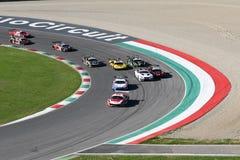 Mugello Circuit, Italy - 7 October, 2017: Start Race #1 Final Round of C.I. Gran Turismo Super GT3-GT3 Stock Photos