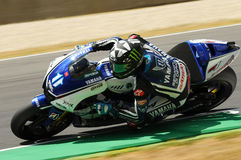 MUGELLO Circuit - JULY 13: Ben Spies Yamaha racing at Qualifying Session of MotoGP Grand Prix of Italy, on July 13, 2012 Royalty Free Stock Images