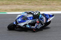 MUGELLO Circuit - JULY 13: Ben Spies Yamaha racing at Qualifying Session of MotoGP Grand Prix of Italy, on July 13, 2012 Stock Photo